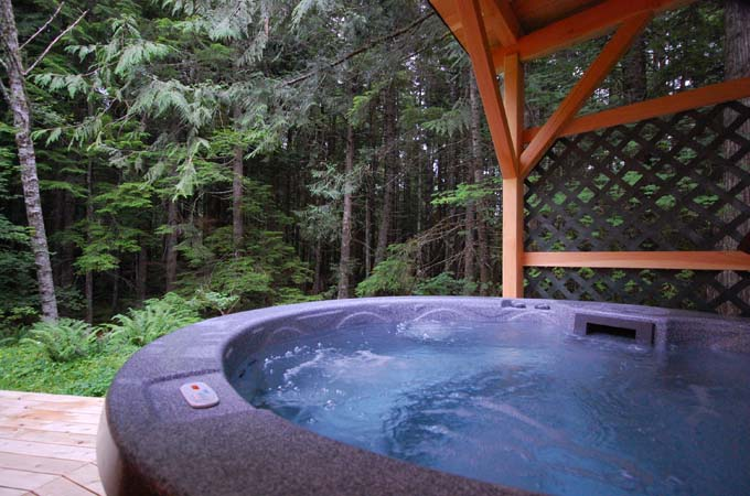 Bear Cabin Hot Tub at Stormking Spa Retreat Mt Rainier