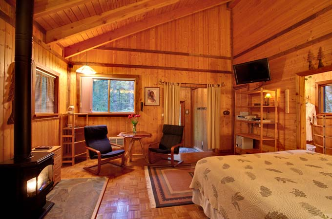 Eagle Cabin Inside Stormking Spa Retreat Mt Rainier
