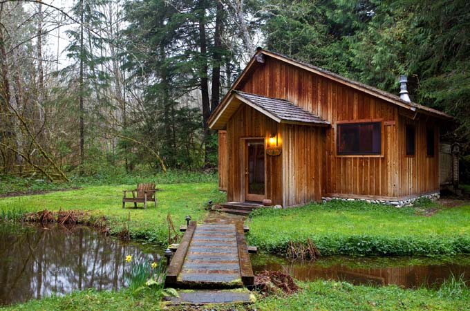 Genial ... Eagle Cabin Pond Stormking Spa Retreat Mt Rainier ...