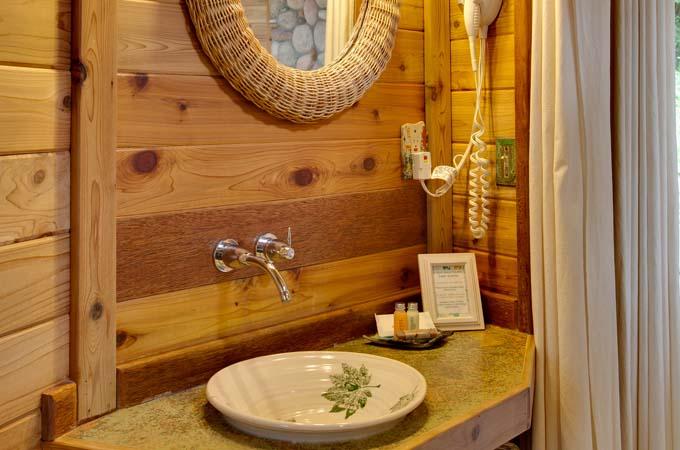 Raven Cabin Bathroom Sink Stormking Spa Retreat Mt Rainier