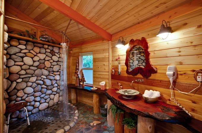 Wolf Cabin Bathroom Stormking Spa Retreat Mt Rainier
